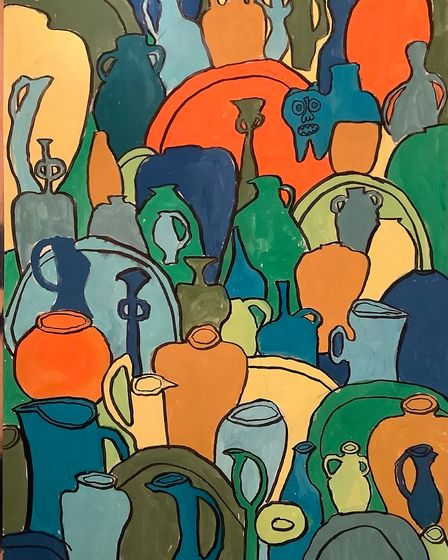 Theo Harrison's artwork,Pots and Vessels.