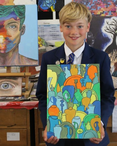 Theo Harrison from Alderman Peel High School will has his art,Pots and Vessels, feature at the Royal Academy this summer.