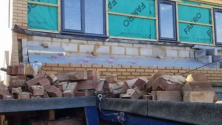 The damaged left behind after Sheringham Collectables was broken in to. Pictures: PAUL BETT
