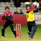 Michael Pepper hits out for Essex Eagles againstSomerset in theVitality Blast T20