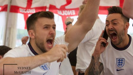 England supporters watched the national team cruise to victory at the Railway Tavern in Dereham.