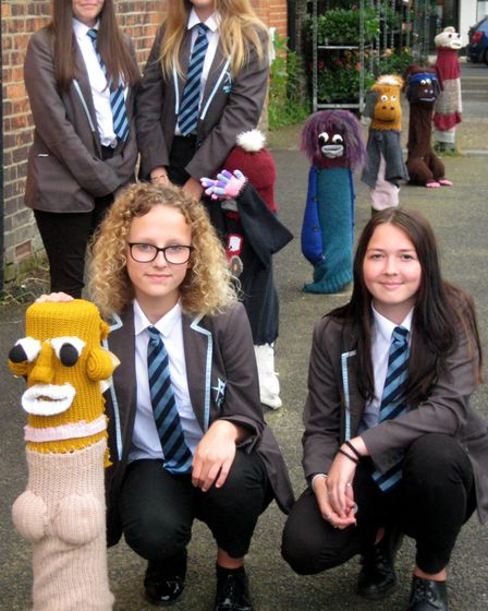 The colourful bollards have been enjoyed by residents in Leiston