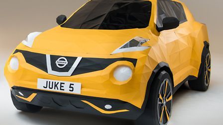 Nissan has created an full-size origami Juke to mark the compact crossover's fifth anniversary.