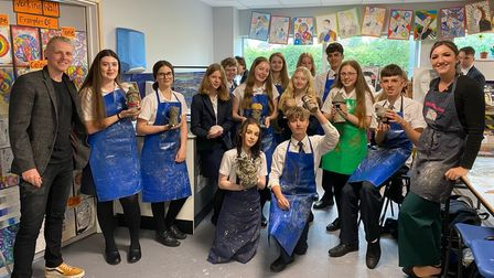The Great Pottery Throw Down star Henry Moore at Sybil Andrews Academy in Bury St Edmunds