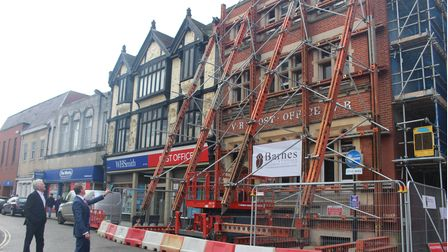 The redevelopment at Cornhill in Bury St Edmunds has reached its first stage of completion