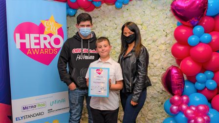 Bradley Wattswas a finalist in the child of achievement category at the 2021 Ely Hero Awards