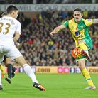Robbie Brady of Norwich and Federico Fernandez. Picture by Paul Chesterton/Focus Images Ltd