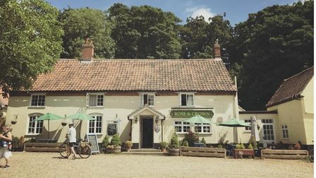 The Rose and Crown Harpley pub.