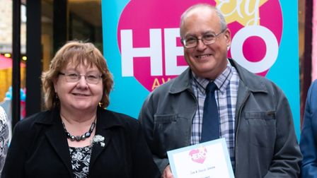 Sue and David Green were crowned neighbours of the year at the 2021 Ely Hero Awards