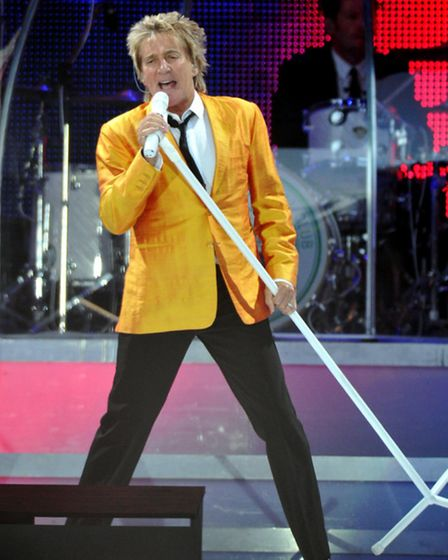 Rod Stewart in concert at Carrow Road, Norwich.; photo by Adrian Judd