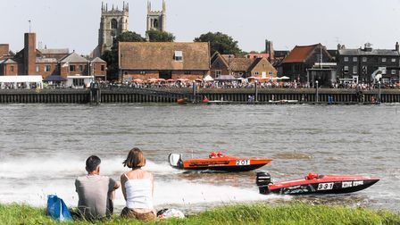 Action from Saturday at the Hanseatic Ski F1 and F2 Race on the River Ouse in King's Lynn. Photo: Ia