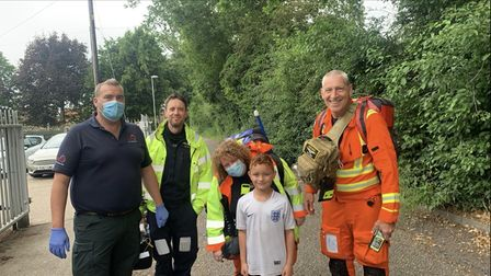 Archie Nelson, 9, was saved by a Norfolk Accident and Rescue Service (NARS) volunteer after he started to choke on a sweet.