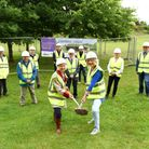 Work on a new visitor centre and café officially starts at Needham Lake