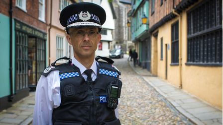 The new temporary chief constable for Norfolk, Paul Sanford.