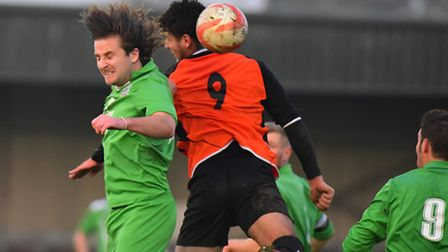 FA Vase action from Emerald Park between Gorleston and London Tigers. Picture: NICK BUTCHER