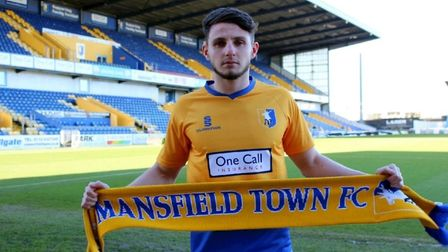 Matt Penney made just two sub appearances on loan at Mansfield Town 2017. Photo: Mansfield Town FC