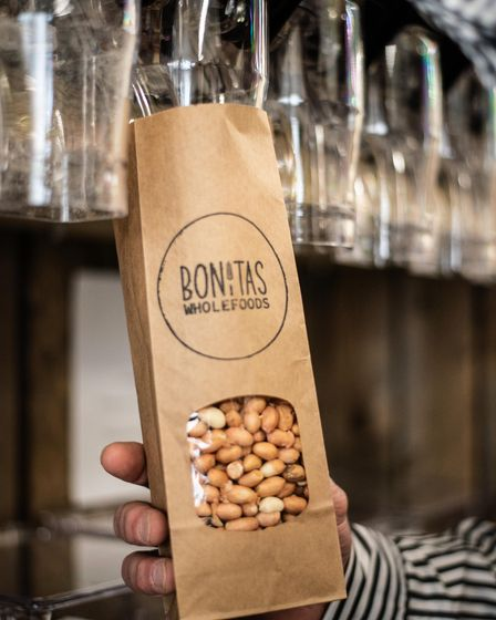 Oliver and Theresa Walters have opened 'Bonitas', a new wholefood and vegan shop in Stowmarket. Pic