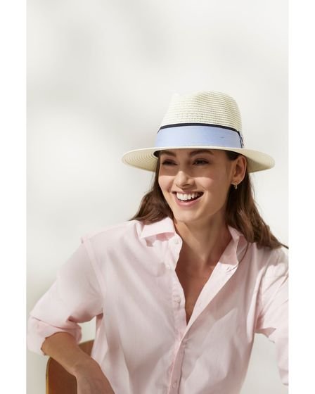 The Orford Fedora (Cornflower Blue Ribbon) by Hicks and Brown, £65