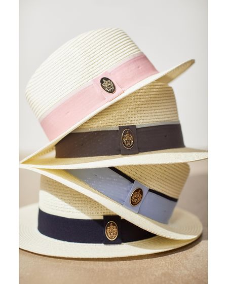 The Orford Fedora (in Dusky Pink, Charcoal, Cornflower Blue and Navy), by Hicks and Browneach £65