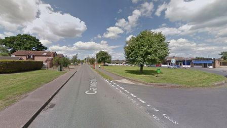 Cannerby Lane in Sprowston where emergency services were called to reports of a crash between a pedestrian and a truck.