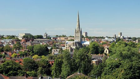 A view of Norwich on a summers day.