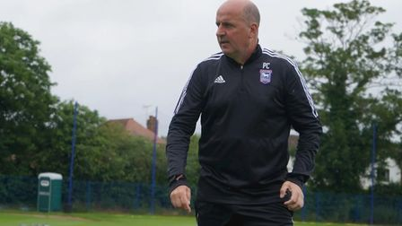 Ipswich Town boss Paul Cook, pictured at pre-season training this week. Photo: ITFC