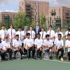 Some of the lawn tennis squad at St Paul's Way school