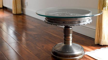 Vane and Main Shaft Console Table