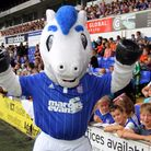 Ipswich Town Football Club Open Day.Bluey meets fans at the open day.