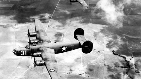 Handout photo issued by the U.S. Air Force of a Consolidated B-24 Liberator taken in the 1940s as a