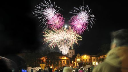 Norwich celebrates with the Big Boom 2014 fireworks display. Picture by SIMON FINLAY.
