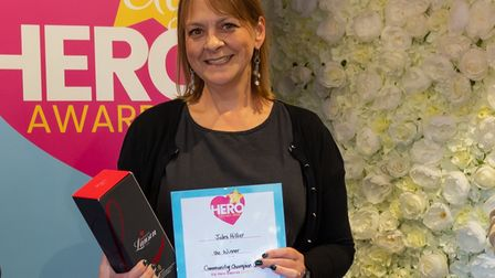 Jules Hillier was crowned community champion at the 2021 Ely Hero Awards