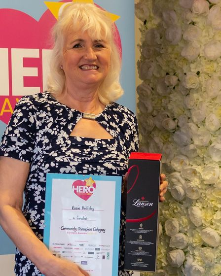 Rosie Holliday was a finalist in the community champion category at the 2021 Ely Hero Awards