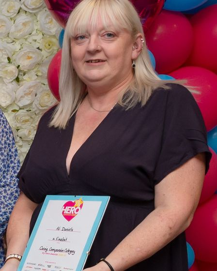 Ali Danielswas one of the finalists in the caring companion category at the 2021 Ely Hero Awards