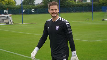 New Ipswich Town goalkeeper Vaclav Hladky
