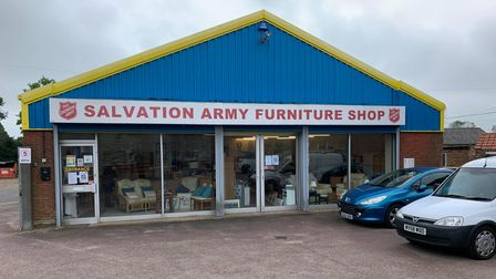 The Salvation Army Furniture Store on Holt Road in Fakenham.