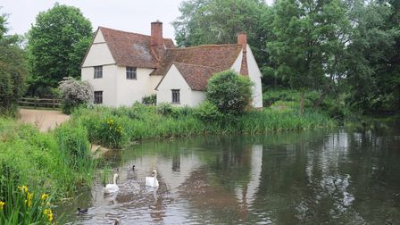 A new garden has been created at Willy Lotts cottage at Flatford Mill.