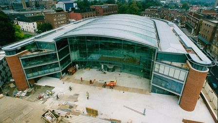 The Forum, under construction in 2001