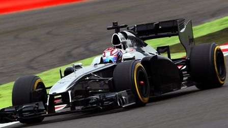 George Russell had his first taste of a Formula One car when he tested a former Jenson Button race w