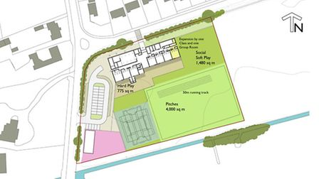 Plans for new primary school near Gayton near King's Lynn. Early drawings were unveilled today.