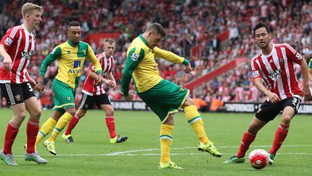 Norwich City on-loan striker Gary Hooper was a long time target for Sheffield Wednesday. Picture by