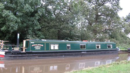 Merlin out on Shroppie and Llangollen canals complete with signwriting