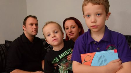 Leigh and Tammy Ramsden's four-year-old son Morgan (centre) has autism spectrum disorder. They want