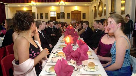 Pupils from KES get together foe their prom night, after their last day of school.18/05/01 words