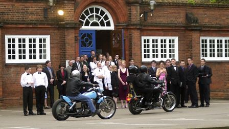 Students at KES arriving in style for their prom night, after their last day of school.18/05/01