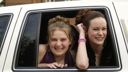 KES pupils arrive at their prom night in a stretch limo.
