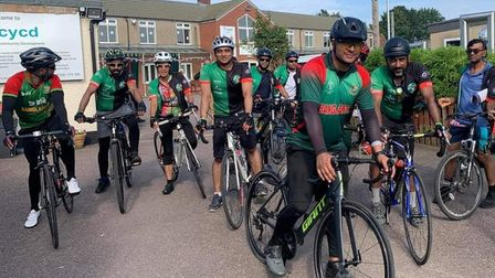 Some of the 'Freedom 50' riders heading to Whitechapel's Altab Ali Park