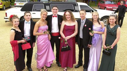 Pupils from Park High School in King's Lynn arrive by stretch limo. at Leziate Sailing Club to a