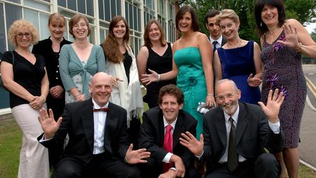 Attleborough High School staff and head Stuart Bailey, front left, ready for the Year 11's Prom.Ph