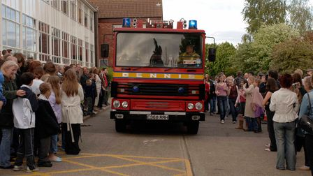 Students from Litcham High arrive in different modes of transport for their end of year prom. Pictu